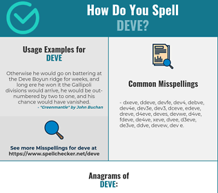 Correct spelling for Deve