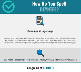 Correct spelling for Deyntee