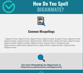 Correct spelling for Digammate
