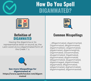 Correct spelling for Digammated