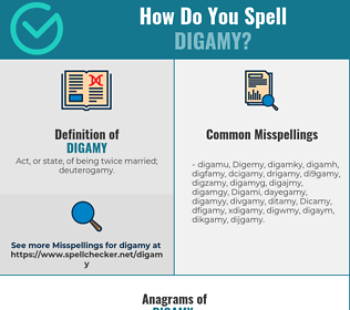 Correct spelling for Digamy