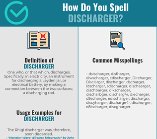 Correct spelling for Discharger