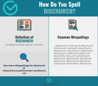 Correct spelling for Dischurch