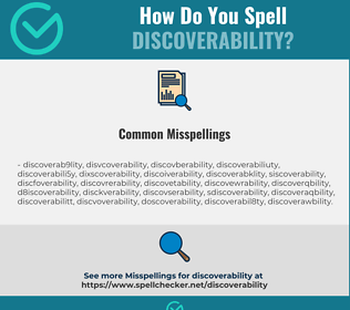 Correct spelling for Discoverability