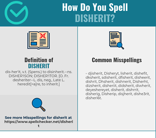 Correct spelling for Disherit