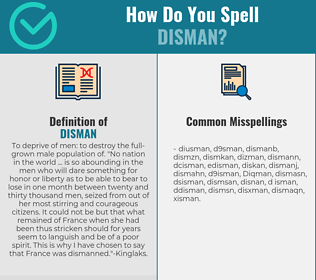 Correct spelling for Disman