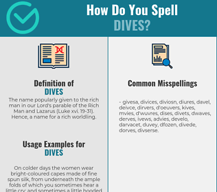 Correct spelling for Dives
