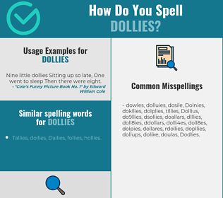 Correct spelling for Dollies