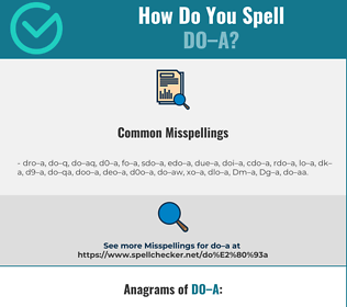 Correct spelling for Do–a