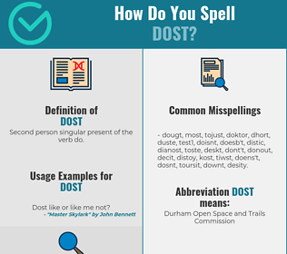 Correct spelling for Dost