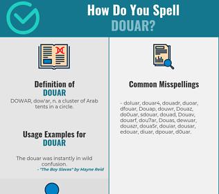 Correct spelling for Douar