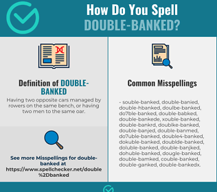 Correct spelling for Double-banked