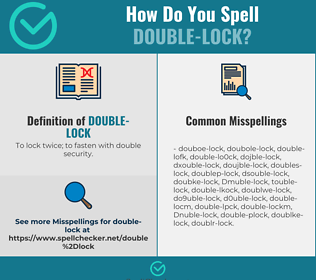Correct spelling for Double-lock