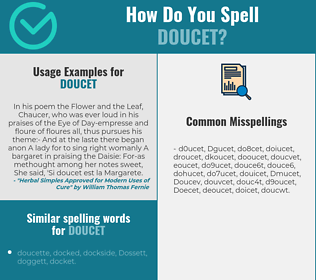Correct spelling for Doucet