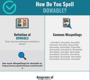 Correct spelling for Dowable