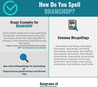 Correct spelling for Dramshop