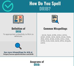 Correct spelling for Drib