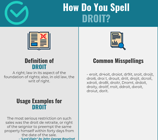 Correct spelling for Droit