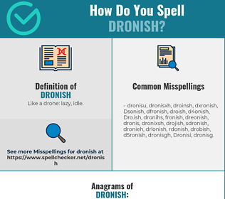 Correct spelling for Dronish