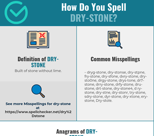 Correct spelling for Dry-stone