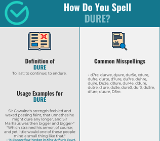 Correct spelling for Dure