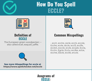Correct spelling for Eccle