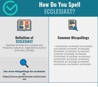 Correct spelling for Ecclesiast