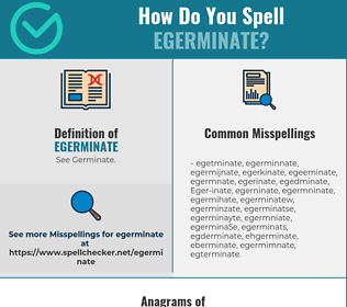 Correct spelling for Egerminate