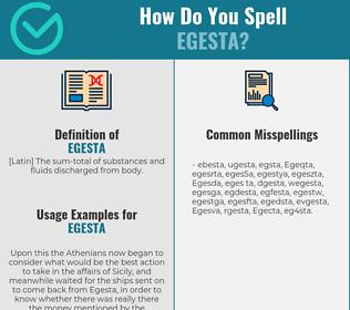 Correct spelling for Egesta