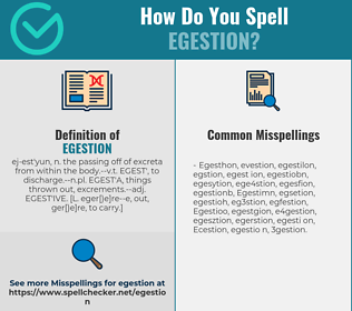 Correct spelling for Egestion