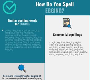 Correct spelling for Egging