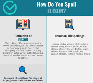 Correct spelling for Elison