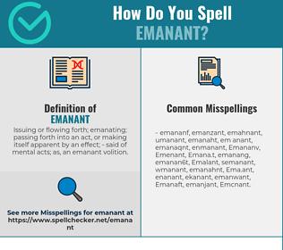 Correct spelling for Emanant