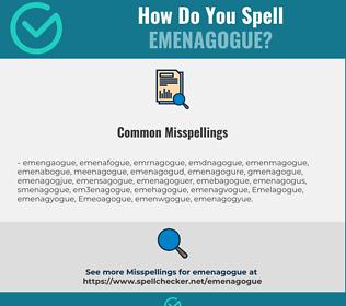 Correct spelling for Emenagogue