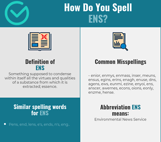Correct spelling for Ens