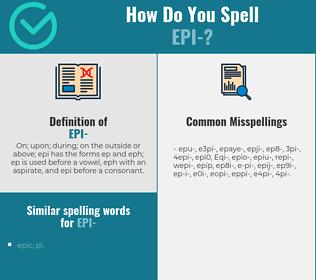 Correct spelling for Epi-