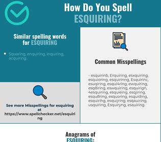Correct spelling for Esquiring