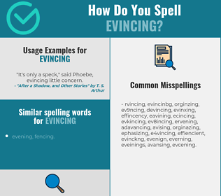 Correct spelling for Evincing