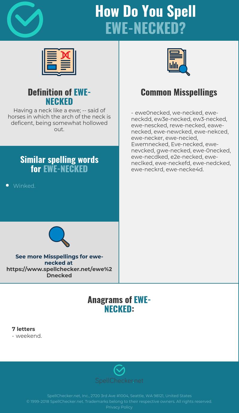 Correct spelling for Ewe-necked [Infographic] | Spellchecker net