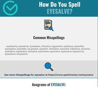 Correct spelling for Eyesalve