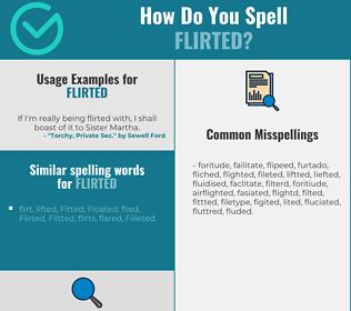 Correct spelling for Flirted