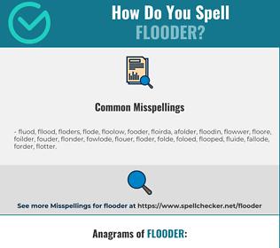 Correct spelling for Flooder