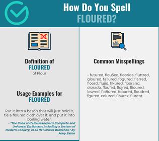 Correct spelling for Floured