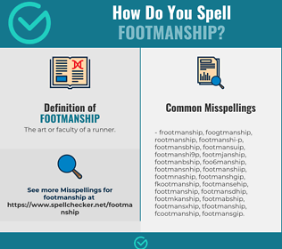 Correct spelling for Footmanship