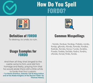 Correct spelling for Fordo