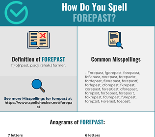 Correct spelling for Forepast