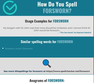 Correct spelling for Forsworn