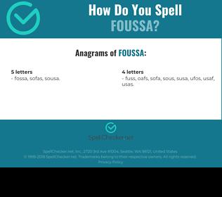 Correct spelling for Foussa