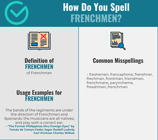 Correct spelling for Frenchmen