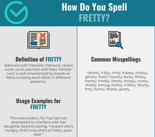 Correct spelling for Fretty